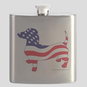 Patriotic Dachshund Flask