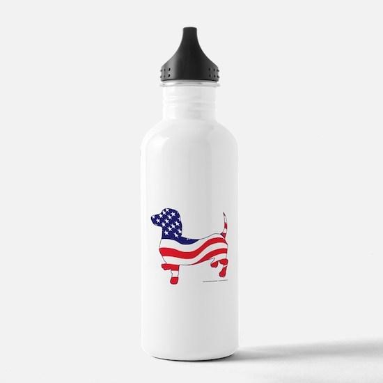 Patriotic Dachshund Water Bottle