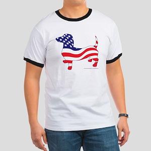 Patriotic Dachshund Ringer T