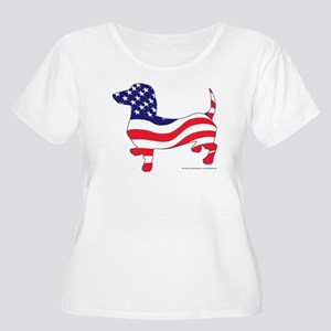 Patriotic Dachshund Women's Plus Size Scoop Neck T