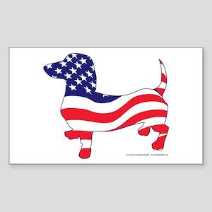 Patriotic Dachshund Sticker (Rectangle)