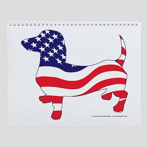 Patriotic Dachshund Wall Calendar