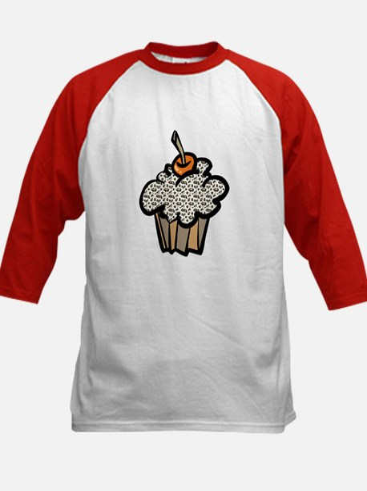 Leopard Print Cupcake Kids Baseball Jersey