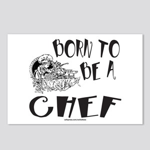 BORN TO BE A CHEF Postcards (Package of 8)