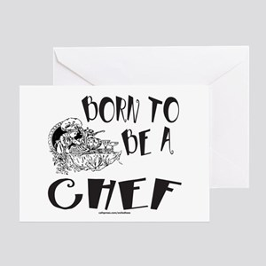 BORN TO BE A CHEF Greeting Card