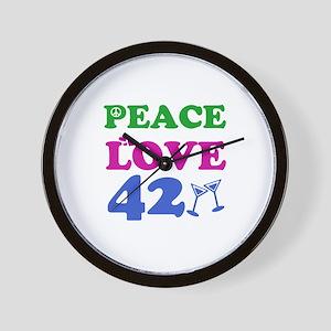 Peace Love 42 Wall Clock