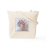 Floral Basket Tote Bag