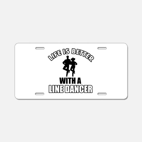 Line silhouette designs Aluminum License Plate