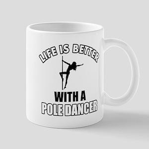 Pole silhouette designs Mug