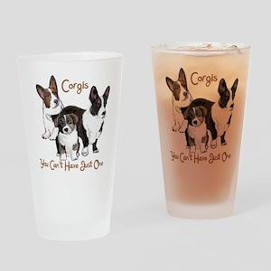 Cardigan corgi family Drinking Glass