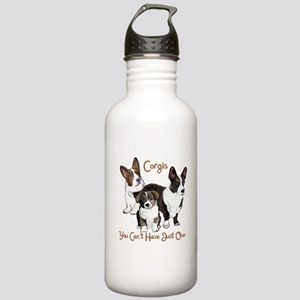 Cardigan corgi family Water Bottle
