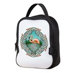 Celtic Flamingo Art Neoprene Lunch Bag