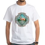 Celtic Flamingo Art White T-Shirt
