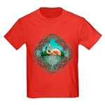 Celtic Flamingo Art Kids Dark T-Shirt