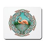 Celtic Flamingo Art Mousepad