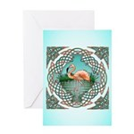 Celtic Flamingo Art Greeting Card