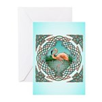 Celtic Flamingo Art Greeting Cards (Pk of 10)