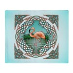 Celtic Flamingo Art Throw Blanket