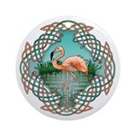 Celtic Flamingo Art Ornament (Round)