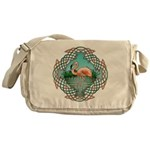 Celtic Flamingo Art Messenger Bag