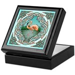 Celtic Flamingo Art Keepsake Box