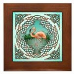 Celtic Flamingo Art Framed Tile