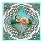 Celtic Flamingo Art Square Car Magnet 3