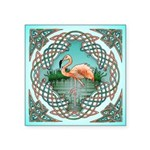 Celtic Flamingo Art Square Sticker 3