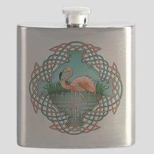 Celtic Flamingo Art Flask
