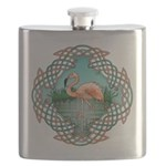 Celtic Flamingo Art Flask
