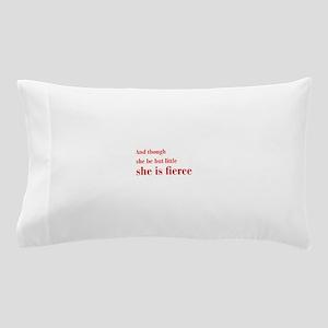 she-is-fierce-bod-brown Pillow Case