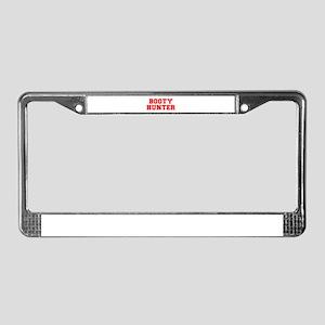BOOTY-HUNTER-fresh-red License Plate Frame