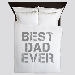 best-dad-ever-CAP-GRAY Queen Duvet