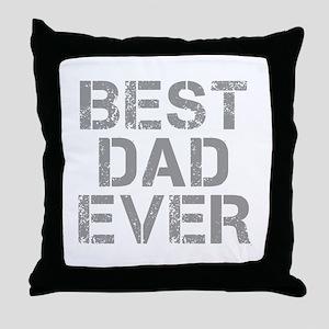 best-dad-ever-CAP-GRAY Throw Pillow