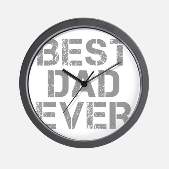best-dad-ever-CAP-GRAY Wall Clock