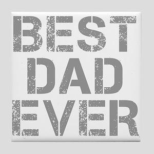 best-dad-ever-CAP-GRAY Tile Coaster