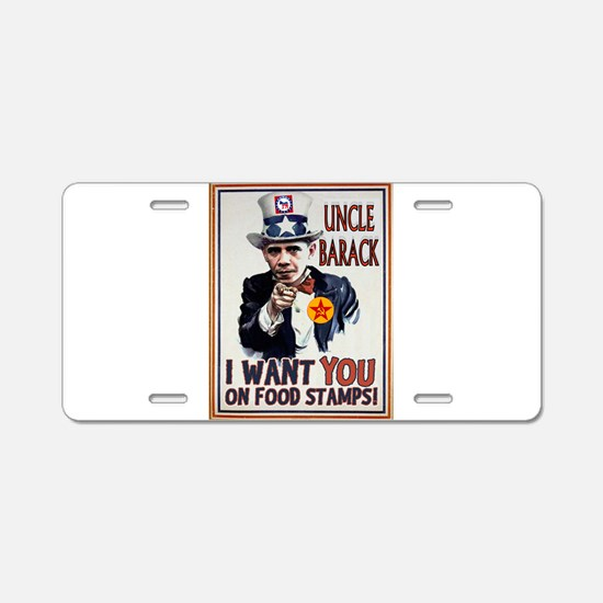 UNCLE BARACK Aluminum License Plate