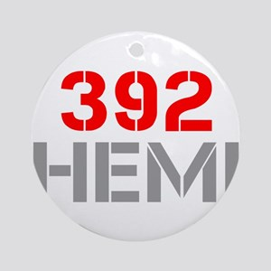 392-hemi-clean-red-gray Ornament (Round)