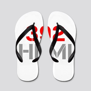392-hemi-clean-red-gray Flip Flops