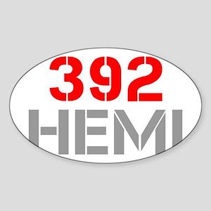 392-hemi-clean-red-gray Sticker