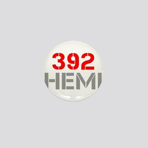 392-hemi-clean-red-gray Mini Button