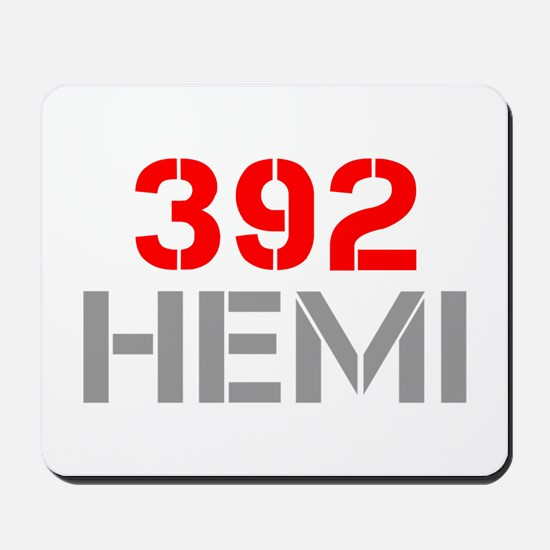 392-hemi-clean-red-gray Mousepad