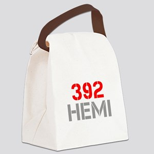 392-hemi-clean-red-gray Canvas Lunch Bag