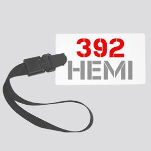 392-hemi-clean-red-gray Luggage Tag