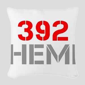 392-hemi-clean-red-gray Woven Throw Pillow