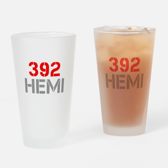 392-hemi-clean-red-gray Drinking Glass