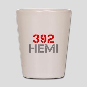 392-hemi-clean-red-gray Shot Glass