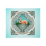 Celtic Flamingo Art Throw Blanket