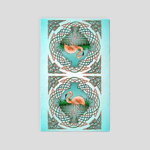 Celtic Flamingo Art 3'x5' Area Rug