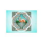 Celtic Flamingo Art 5'x7'Area Rug